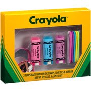 amazon com crayola qty 3 temporary hair color brush in combs w