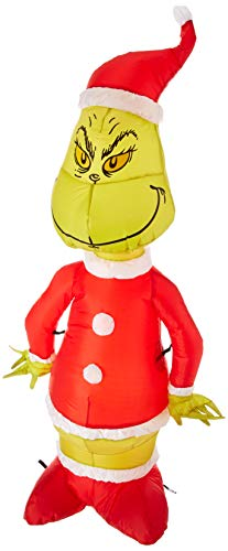 Gemmy Inflatable Grinch as Santa 4' Tall