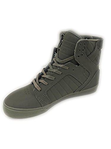 Skates Ice Hockey Supra 705 - Supra TUF Chad Muska Skytop Skate Shoe (9, Grey/Grey)