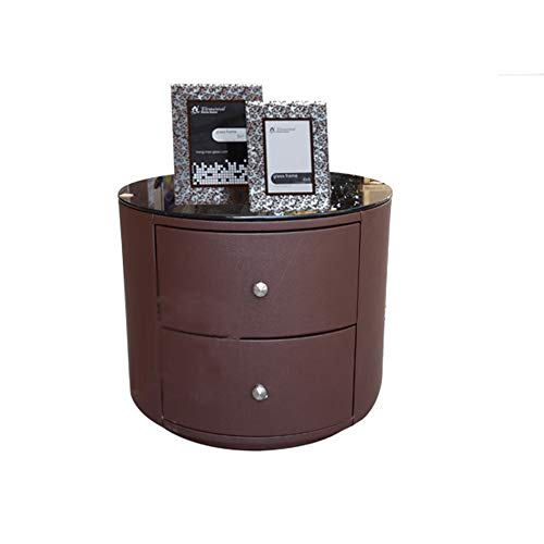 The Coffee Table Company Xiaomei Leather Art Bedside Cabinet Corner Cabinet Simple Storage Cabinet (Color : F) ()