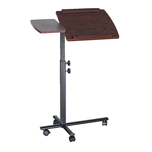 Laptop Rolling Cart in Cherry and Black Finish 40'' H x 25'' W x 16'' D in. by FamisCorp