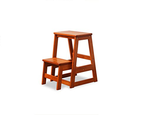 Solid wood staircase stool, staircase chair, home two-step ladder, folding storage by Xin-stool