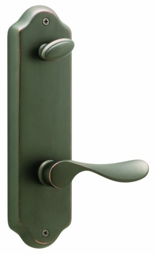 Schlage FA359CHP716FLOLH Champagne Interior Left-Handed Lever with Deadbolt and Florence Escutcheon, Aged Bronze