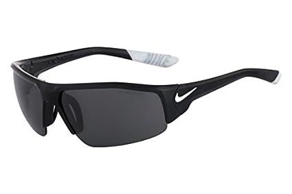 15dd3db82cbc9 Nike Golf Skylon Ace XV Sunglasses, Matte Black/White Frame, Grey with  Silver Flash Lens
