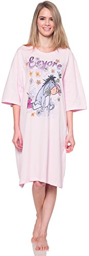 Disney Night Shirt Mickey Minnie Mouse Eeyore Sleep Tee One Size Fits Most (Eeyore) (Eeyore Character)