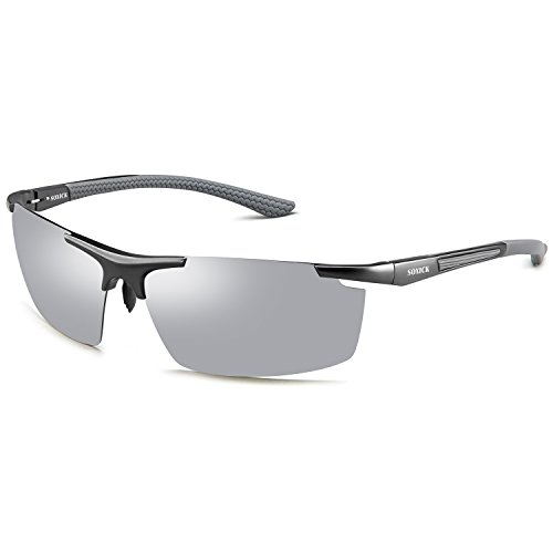 Lens de 1 hombre Gafas para Silver Soxick Grey sol Frame q4vgW58