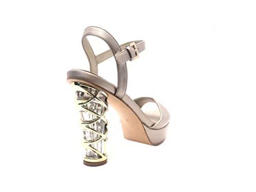 Con Particular Wedding Diseño Plata Gold Shoe Zapatos Mujer Detalle Sandalia Boda Novia Ceremonia Sandal Italiano Elegant Tacón Plateau Sandalias Alto Bride Elegantes Cristales pq6B8