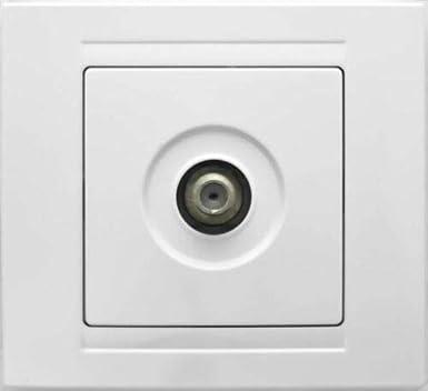Antena Moderna caja de enchufe F connettore toma de antena interruptor conexión blanco
