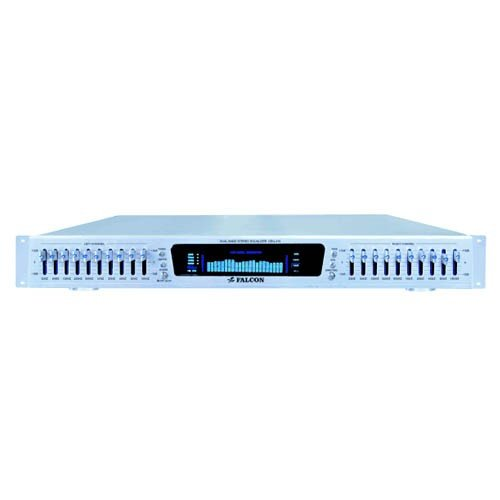 FALCON Pro DEQ215 Profesional Dual 10 Band Equalizer /EQ/LED/RCA by Falcon