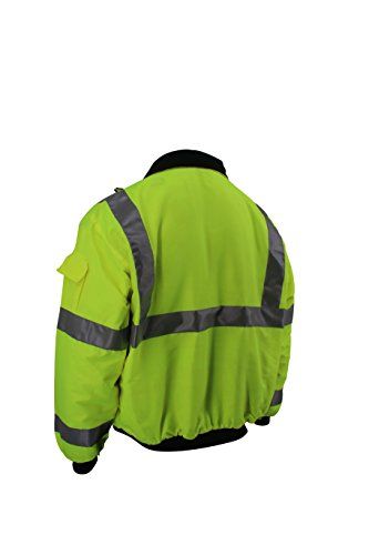 Brite Safety Style 5020 Hi Vis 3-Season Bomber Jacket Men or Women | Durable, Wind & Water Resistant | ANSI Class 3 compliant (3XL) by Brite Safety (Image #1)