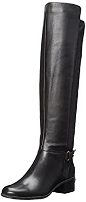 Bandolino Women's Cuyler Leather Riding Boot, Black, 5 M US