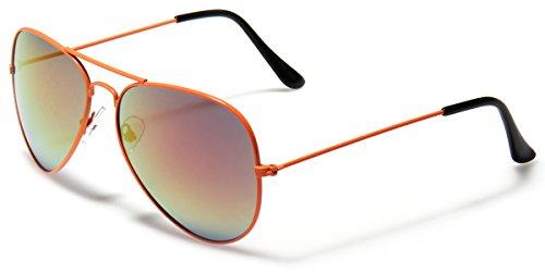Neon Frame Original Aviator Style Sunglasses