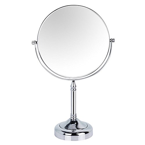 GuRun 6-inch Tabletop Two-sided Swivel Makeup Mirrors with 7x Magnification,Chrome Finish M2251(6in,7x) by GURUN