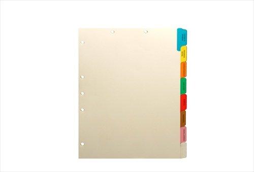 Manila Medical Divider Set, Side Tab, Side Tab, Preprinted (Box of 50 Sets)