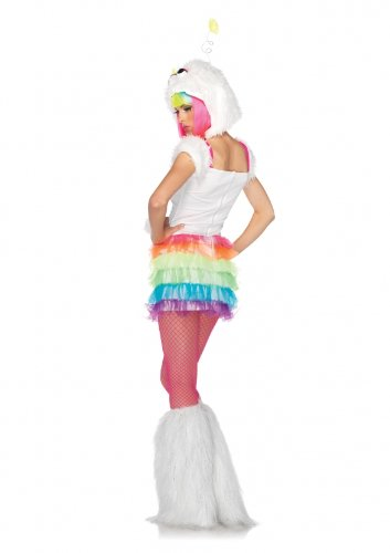 Leg Avenue Costumes 2Pc.Starbrite Dress and Furry Monster Hood with Star Antennae, Multicolor, Small/Medium