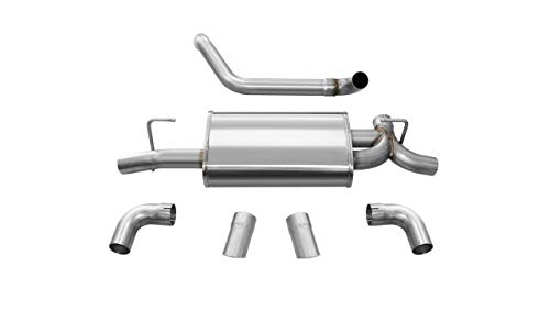Corsa Performance 21013 Sport Axle-Back Exhaust System Dual Rear Exit 2.5 in. Dia. Incl. Muffler Assy/Front Pipe/Hardware/Dual 3.5 in. Turn-Out Polished Outlets Sport Axle-Back Exhaust System