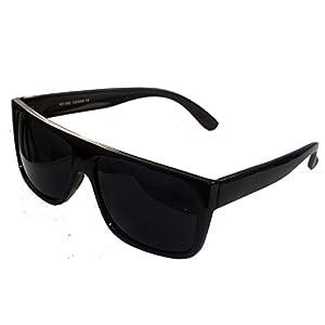Classic Old School Super Dark Lens Locs Sunglasses-1360SD