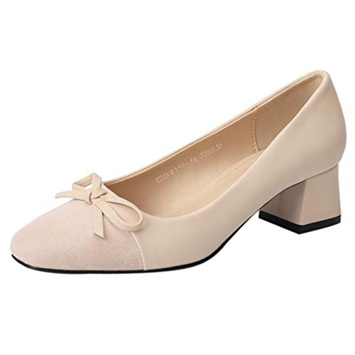 Sandalias planas mujer verano 2018, Covermason Boca ancha Bow Square Head zapatos de corte bajo: Amazon.es: Ropa y accesorios