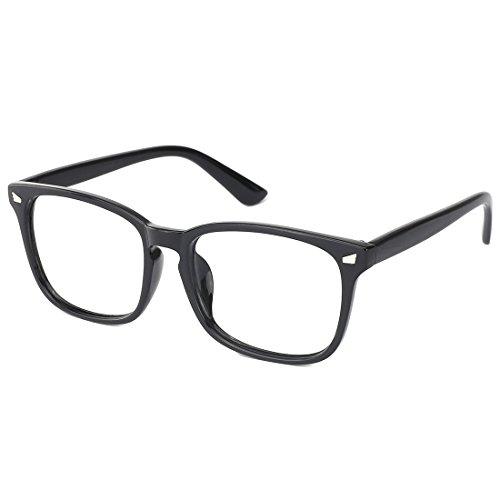 Slocyclub Vintage 50's Wayfarer Clear Lens Glasses Nerd Square Keyhole Design - 1950 Eyeglasses