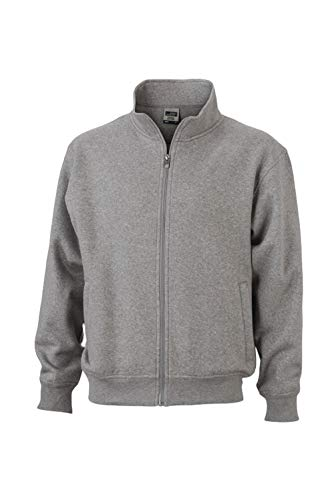 In Giacca Lampo Sweat E Colletto Grey Workwear Con Coreana Jacket Felpa heather Chiusura Alla dqqSraw