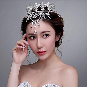 FLOW ZIG Korean Style Luxurious Tassel Rhinestones Wedding/Party Headpieces/Forehead Jewelry by FLOW ZIG
