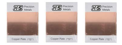 K&S Precision Metals 6604 Copper Etching Plate, 0.050
