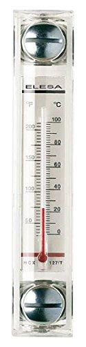 Elesa 11366 Column Level Indicator, HCX/T Model, Dual Scale Thermometer, Transparent Technopolymer, Zinc Plated Steel Hardware, 11.46'' x 1.38'' x 1.54''