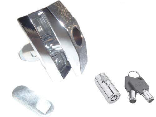 T Handle Vending Machine Pop up Vendo Short Quarter Turn Chrome + Lock 0585