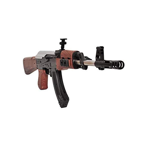 SUPER TOY Assault Rifle Ak-47 Toy Gun with Extra 52 Plastic Bullets (24-inch)