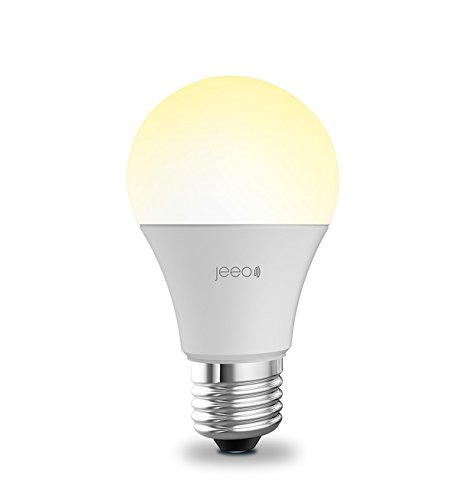 Jeeo Smart Wi-Fi LED White Bulb, 800 Lumens/60W Compatible, Dimmable, Compatible with Alexa and Google Home, IFTT Compatible, Jeeo Smart Home App Remote Control