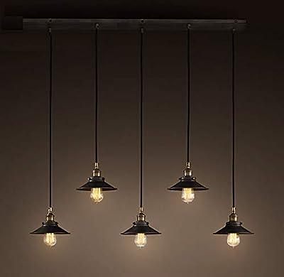 Whse of Tiffany Ld-4055 Hollie Adjustable Cord 5 Light Edison Lamp