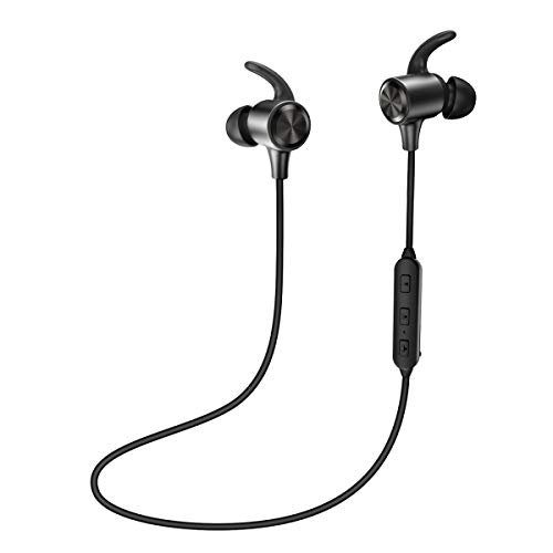 Bluetooth Headphones TaoTronics Wireless Earphones Sport Earbuds aptX in Ear Headset Sweatproof for Running (8 Hours Playtime, Bluetooth 4.2, IPX6, Magnetic, Noise Cancelling Mic)