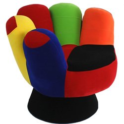 Amazon.com  Mini Mitt Chair - color Multi - Lime Red Orange and Yellow  Baby  sc 1 st  Amazon.com : mitt chair - lorbestier.org