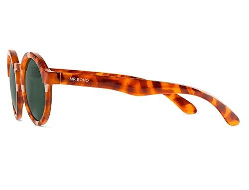 Mr Leo Unisex Cream Tortoise Cross de Sol Gafas Dalston 44 Boho PpwHxrBPq6