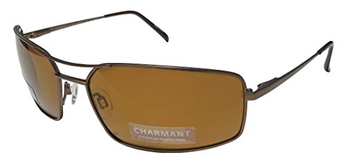 Charmant TI12251P TI/12251P BR Brown/Polarized Brown Sport Sunglasses - Sunglasses Ti