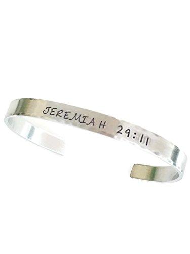 Jeremiah 29:11 Hand Stamped Bracelet Silver Jewelry