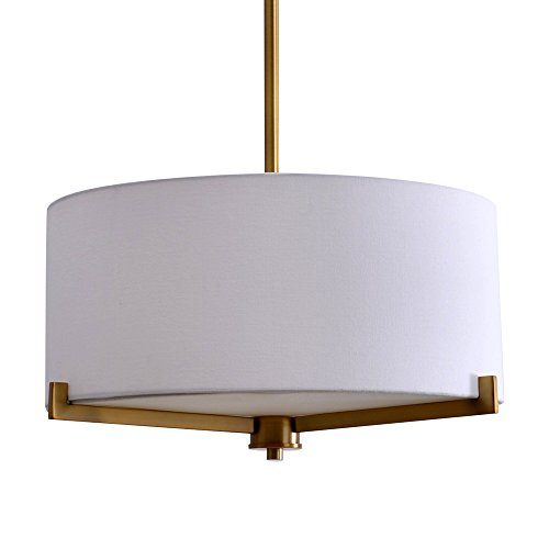 Catalina Lighting 19741-001 Traditional 3 Pendant Ceiling Light with Linen Shade, 19