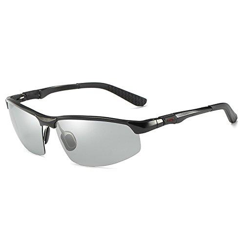 nbsp; nbsp;Gafas Gris polarizadas Black Deportivas Mjia de antideslumbrante Sol Gafas Color de Hombre de Sol sunglasses visión cambian Gafas frame Que conducción de Gafas HD Marco ZZgnxwSa