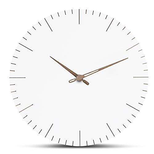 FlorLife Silent Wall Clock Non Ticking 12 Inch Excellent Accurate Sweep Movement, Modern White Decorative Clock No Frame for Kitchen, Living Room, Bathroom, Bedroom, Office by FlorLife