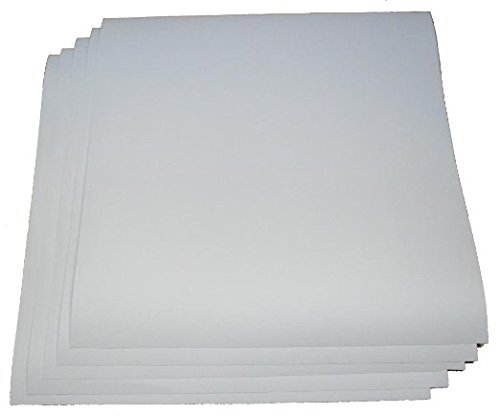 12 by 12 Clear Vinyl Sheets, set of 5