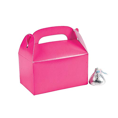 (Mini Hot Pink Treat Boxes (24pc) - Party Supplies - Containers & Boxes - Paper Boxes - 24 Pieces)
