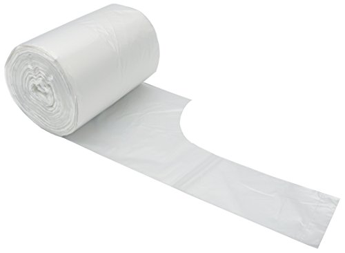 Feiupe 2 Gallon Handle Clear Small Trash Bag Garbage Bag Trash Can Liner (100 Bags(2 Gallon))