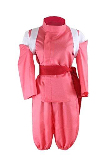 Mocona Spirited Away Cosplay Ogino Chihiro Costume Kimono Suit (X-Small(150-158cm), red)]()