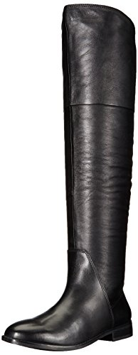 ALDO Women's Fudge Riding Boot, Black Leather, 7.5 B US by ALDO