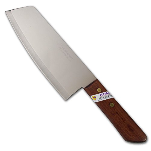 Thai Cook Kitchen Chef Knife Stainless Steel Wood Handle Kiwi Brand No. 21
