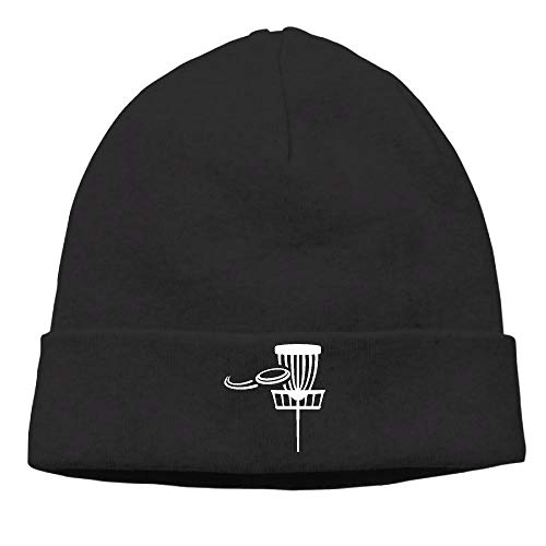 ZLOO-99 Men/Women Fashion Disc Golf Basket with Flying Disk Skull Cap Beanie Cap