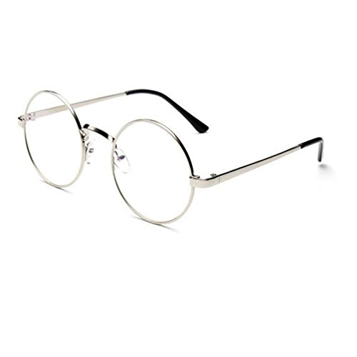 Qisc Classic Vintage Retro Classic Half Frame Horn rimmed Clear Lens Glasses - Size Eyeglass Chart