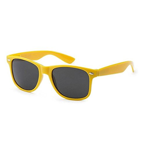 Epic Brand Wayfarer Sunglasses Collection for Men and Women | Classic 80's Retro Vintage Fashion Timeless Style (Yellow, Black 52mm - Who Sunglasses Made