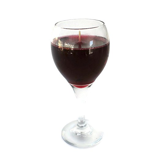 Merlot Gel Wine Glass Candle