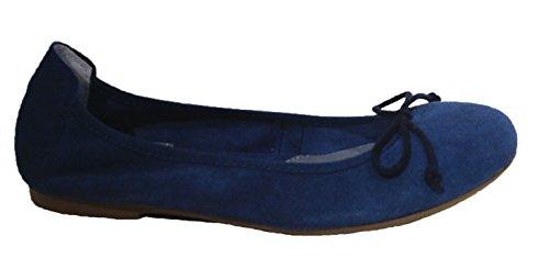Acebo's Ballerinas Flats Slipper Leder jeansblau